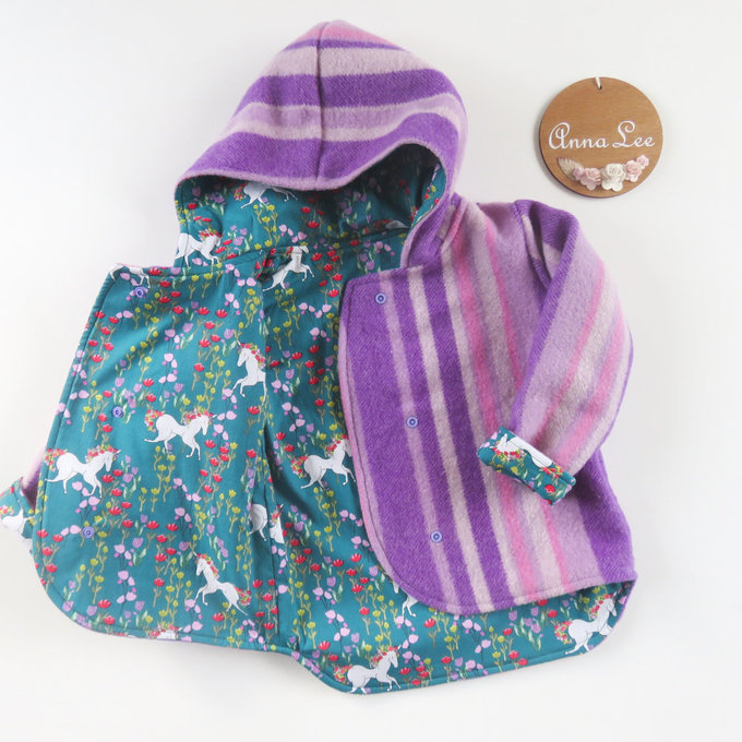 Size 3 - Purple Wool/Unicorns Arlen Coat